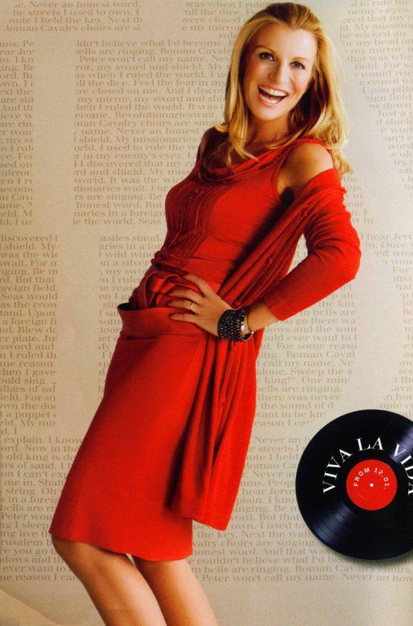 Bild Dame rotes Kleid
